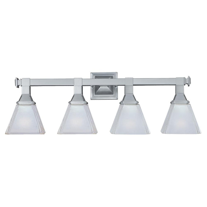 Maxim Lighting 11079FTSN Brentwood 4-Light Bath Vanity in Satin Nickel