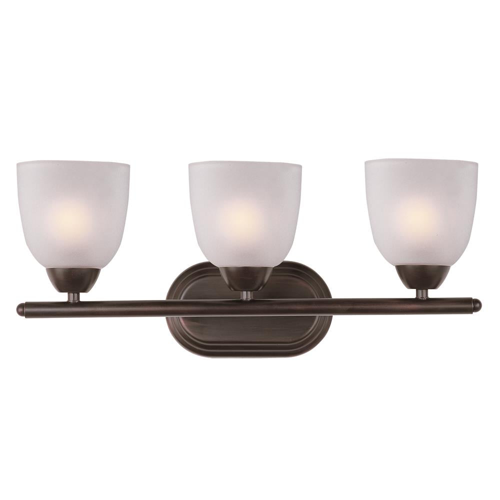 Maxim Lighting 11313FTOI Axis 3-Light Bath Vanity in Oil Rubbed Bronze