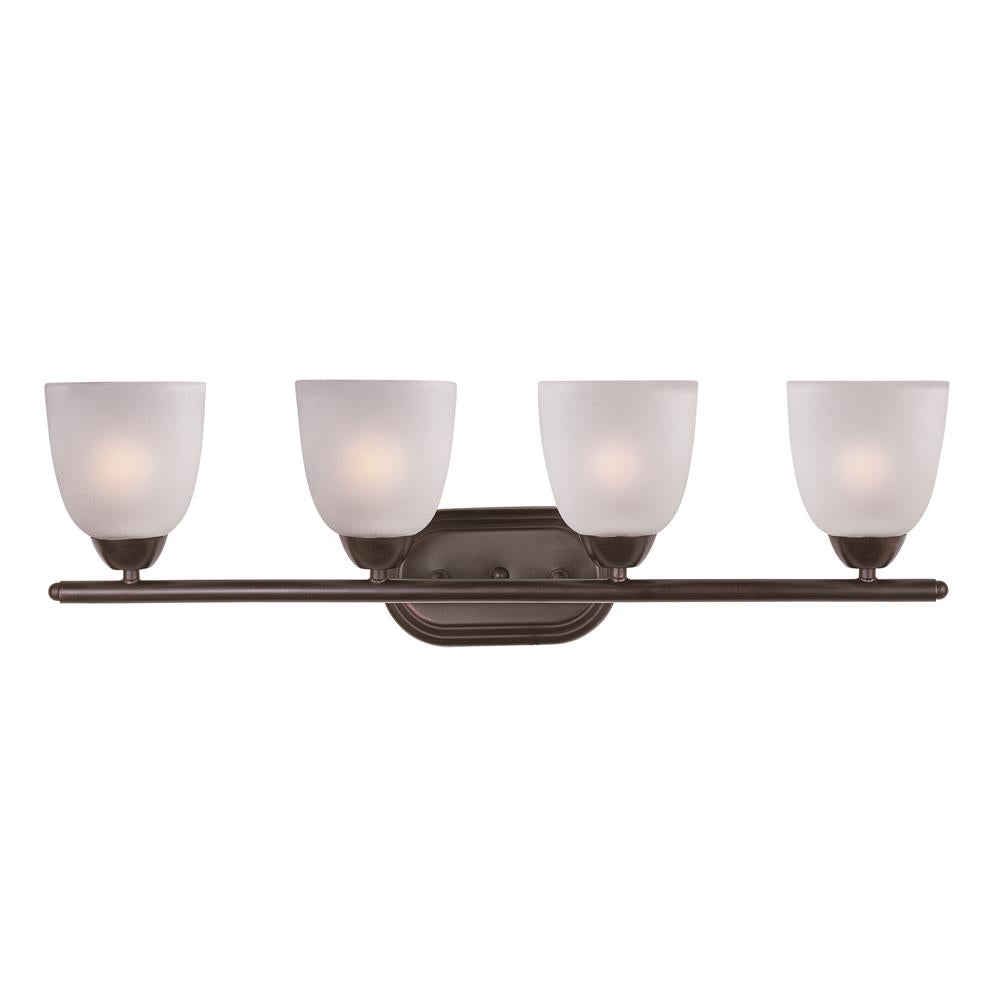 Maxim Lighting 11314FTOI Axis 4-Light Bath Vanity in Oil Rubbed Bronze