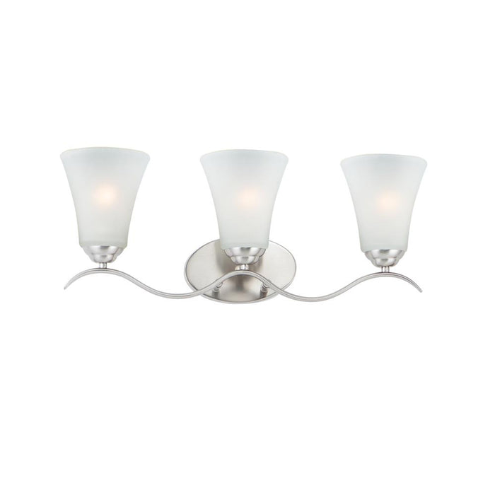 Maxim Lighting 12083FTSN Vital 3-Light Bath Vanity in Satin Nickel