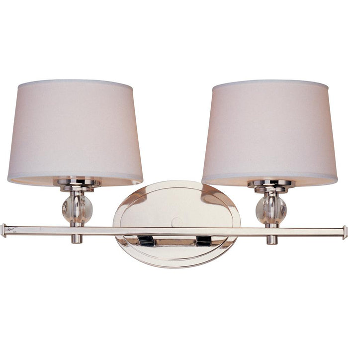 Maxim Lighting 12762WTPN Rondo 2-Light Bath Vanity in Polished Nickel