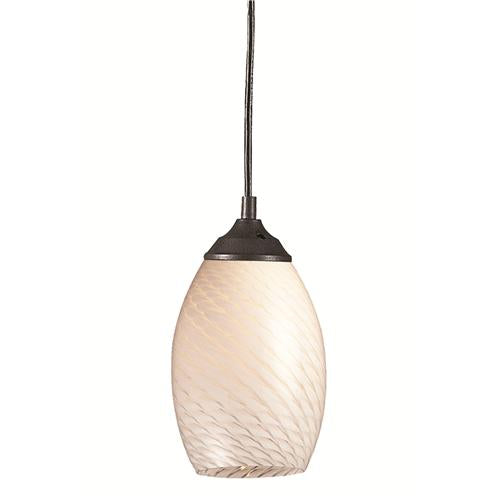 Z-Lite 131-WHITE Jazz 1 Light Mini Pendant in Sand Black