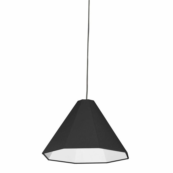 Dainolite 181P-PC-BK 1 Light Incandescent Pendant Polished Chrome with Black Shade