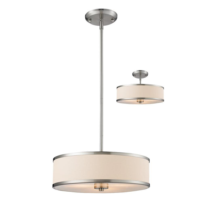 Z-Lite 183-16 Cameo 3 Light Convertible Pendant in Brushed Nickel