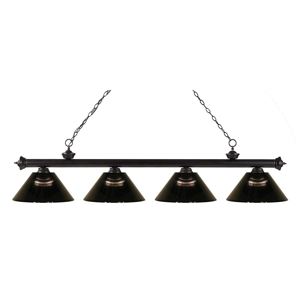 Z-Lite 200-4BRZ-ARS Riviera 4 Light Billiard Light in Bronze