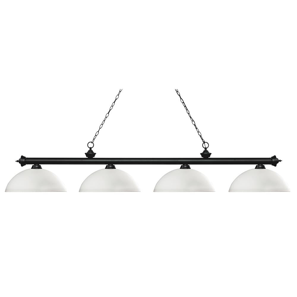 Z-Lite 200-4MB-DMO14 Riviera 4 Light Island/Billiard Light in Matte Black