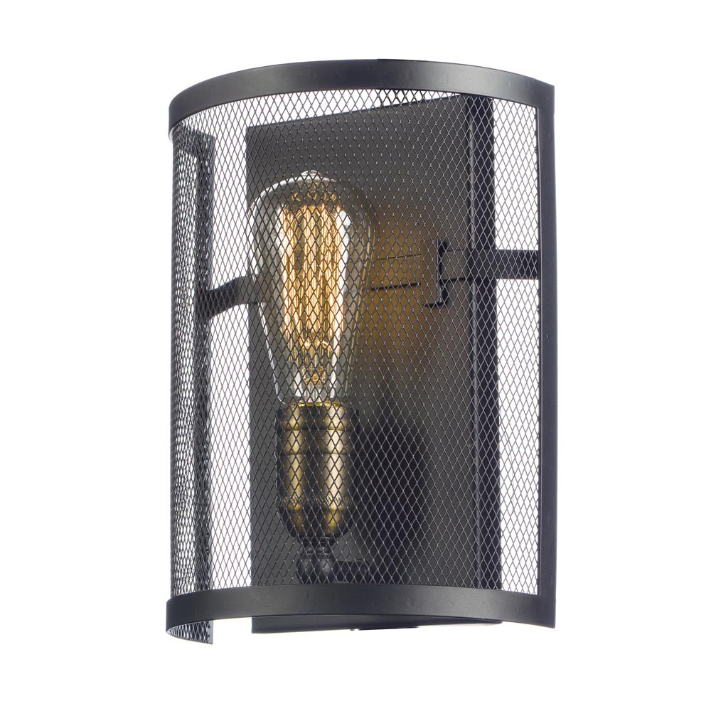 Maxim Lighting 20112BKNAB/BUI Palladium 1-Light Wall Sconce w/Bulbs in Black / Natural Aged Brass