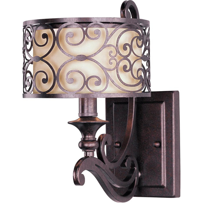 Maxim Lighting 21152WHUB Mondrian 1-Light Wall Sconce in Umber Bronze