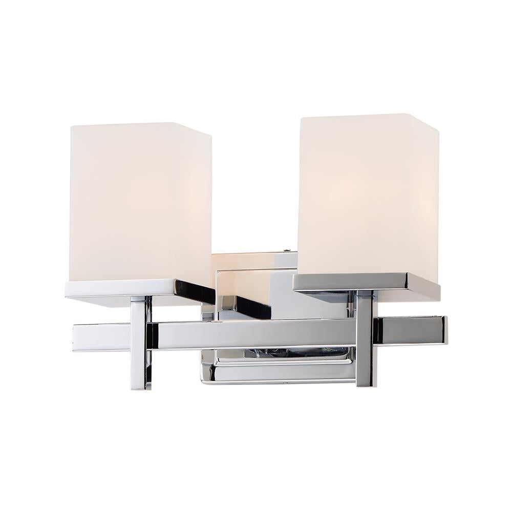 Maxim Lighting 2152SWPC Tetra 2-Light Bath Vanity