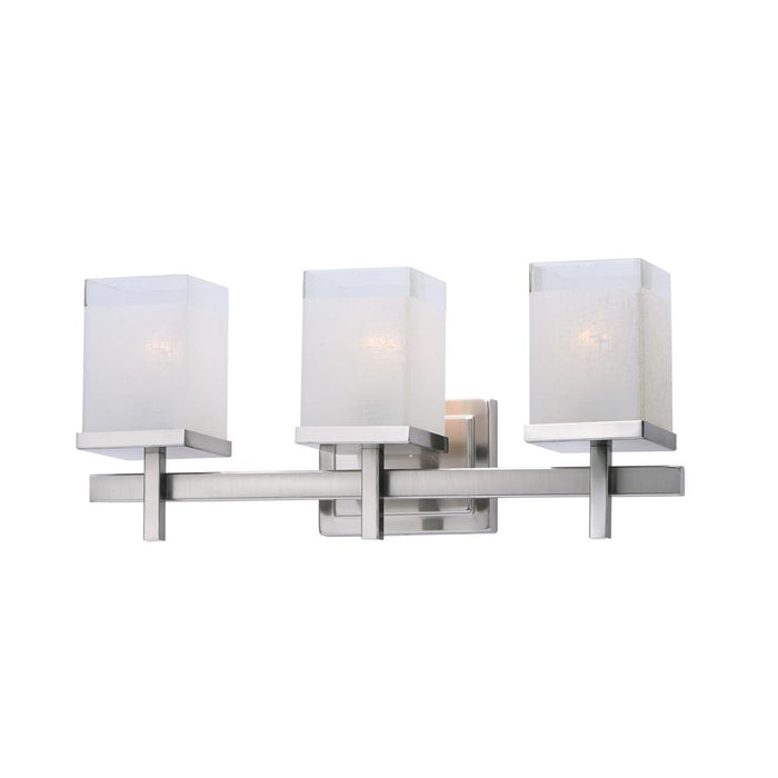 Maxim Lighting 2153LNSN Tetra 3-Light Bath Vanity