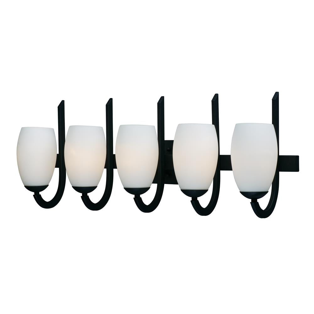 Maxim Lighting 21645SWTXB Taylor 5-Light Bath Vanity in Textured Black
