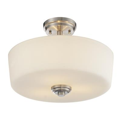 Z-Lite 226SF Lamina 3 Light Semi-Flush Mount in Brushed Nickel