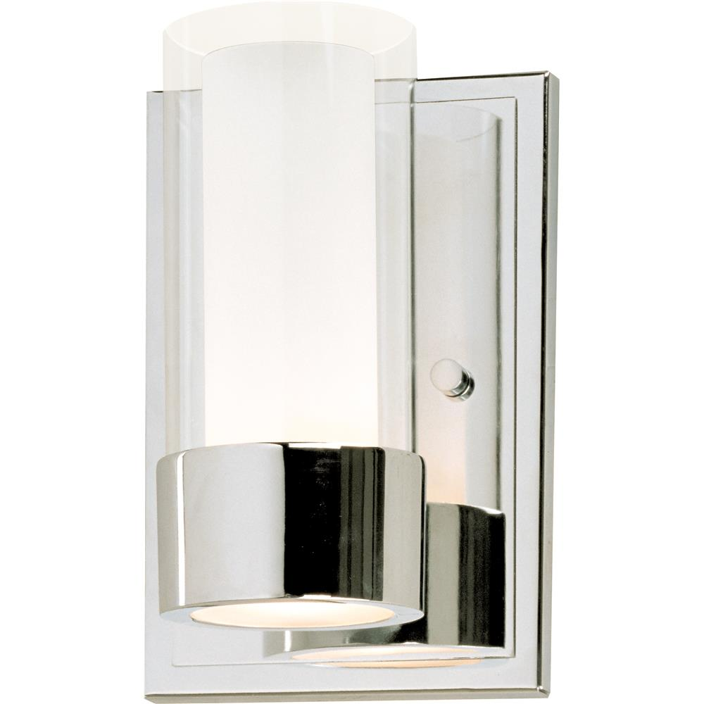 Maxim Lighting 23071CLFTPC/BUL Silo 1-Light Wall Sconce With LED Bulb