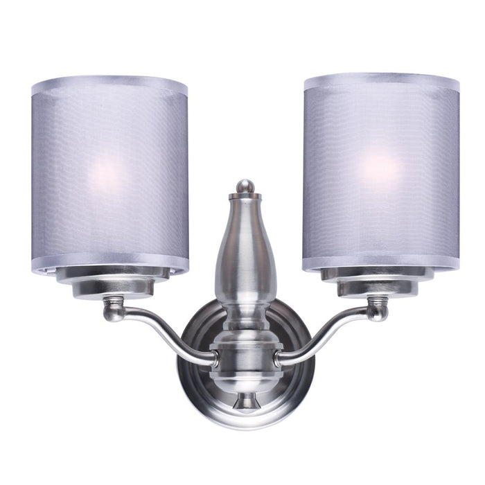 Maxim Lighting 24559SSSN Lucid 2-Light Wall Sconce in Satin Nickel