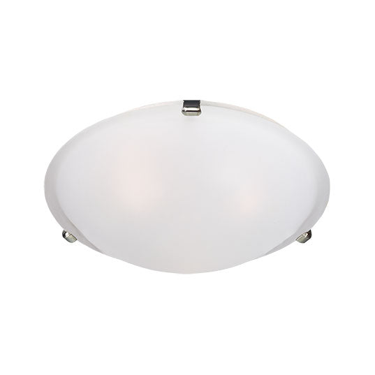 Maxim Lighting 2680FTSN Malaga 2-Light Flush Mount in Satin Nickel