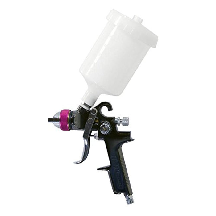 Lematec HVLP Paint Spray Gun, Gravity Feed Spray Gun Professional Series 1.4 mm Standard Nozzle, with 20.2 ounce Paint Cup.