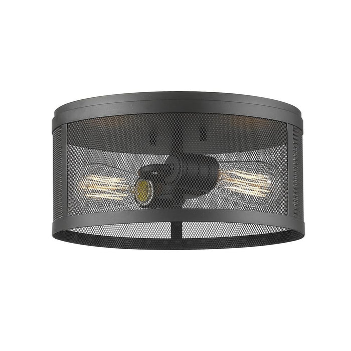 Z-Lite 331F12-BRZ Meshsmith 2 Light Flush Mount in Bronze
