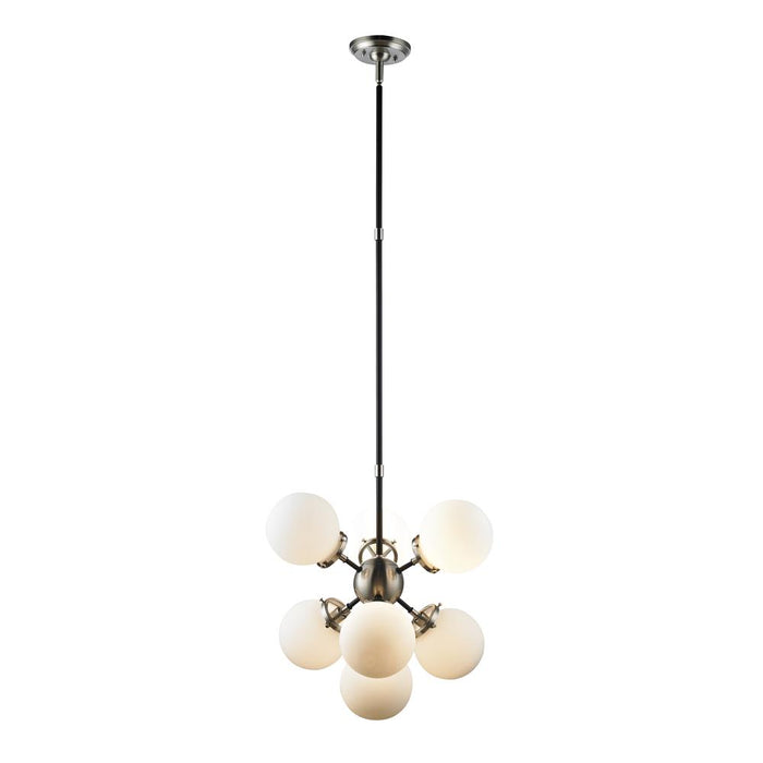 Signature M&M by L2 Lighting 3527-89 Paris 7 lights pendant lamp - brushed nickel in Brsuhed Nickel