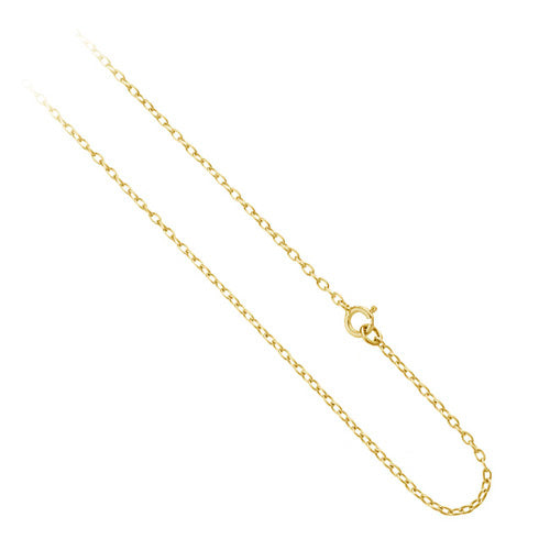 "18k Gold Over Sterling Silver 1mm Rolo Chain Necklace 14"" 16"" 18"" 20"" 24"" 30"" 36"""