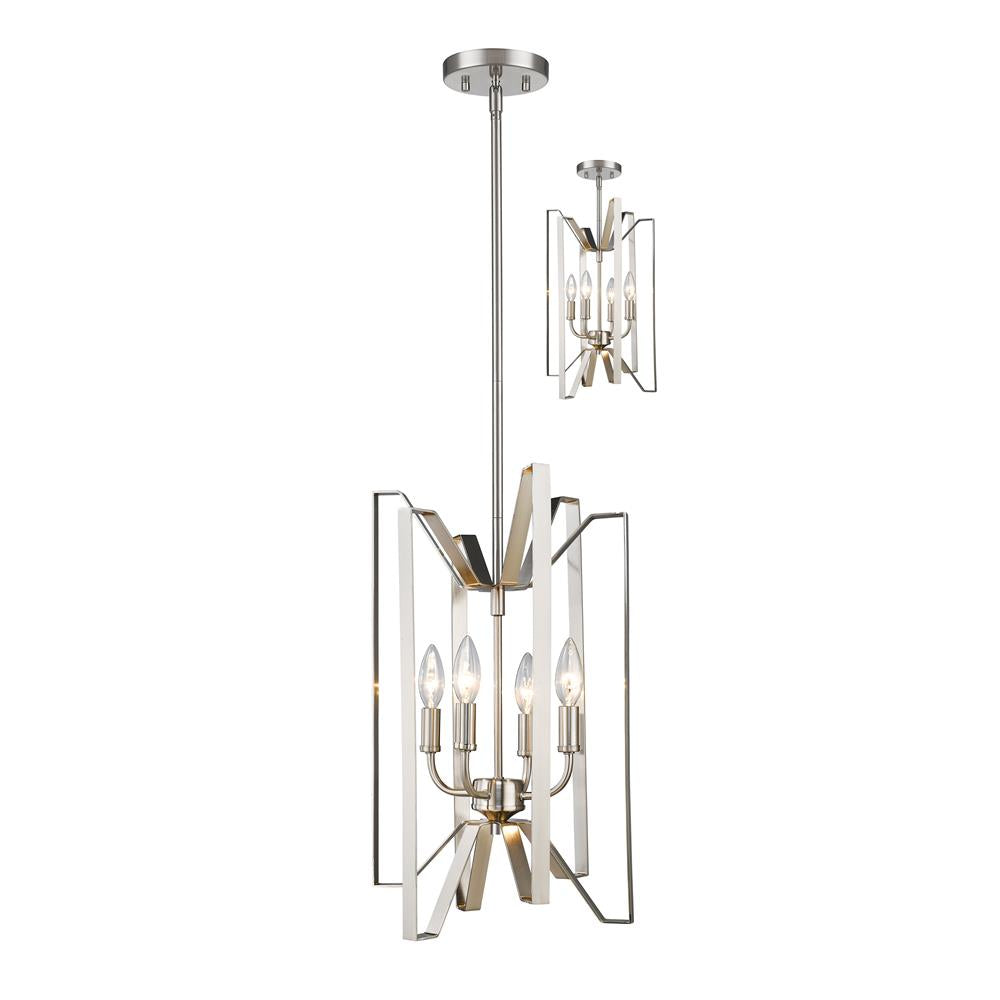 Z-Lite 4000-4BN Marsala 4 Light Pendant in Brushed Nickel