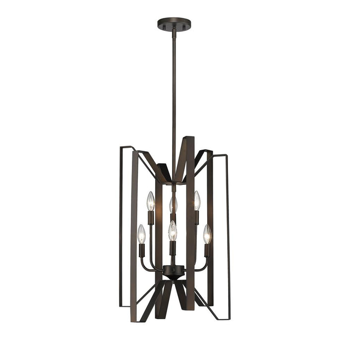 Z-Lite 4000-6BRZ Marsala 6 Light Pendant in Bronze