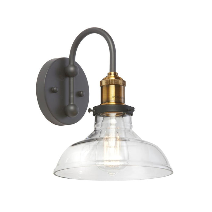 Dainolite 410-61W-BAB 1LT Wall Sconce, Black/Antique Brass