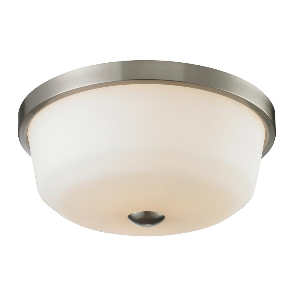 Z-Lite 410F3 Montego 3 Light Flush Mount in Brushed Nickel
