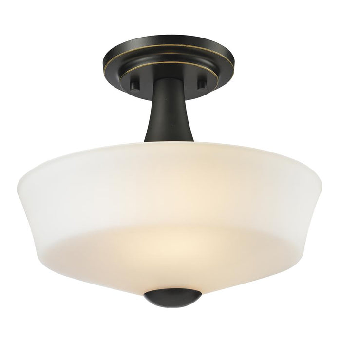 Z-Lite 411SF2 Montego 2 Light Semi Flush Mount in Coppery Bronze
