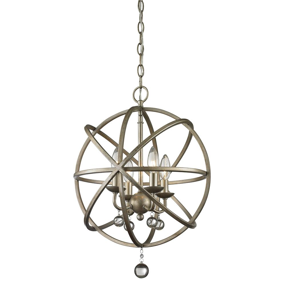 Z-Lite 415-16 Acadia 4 Light Pendant in Antique Silver
