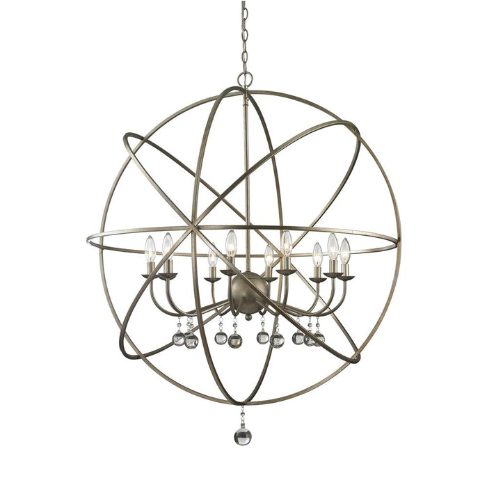 Z-Lite 415-36 Acadia 10 Light Pendant in Antique Silver