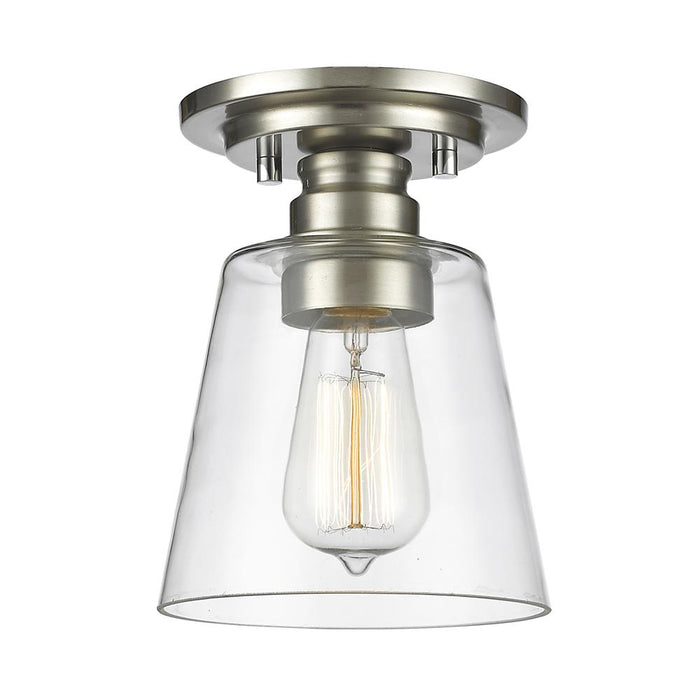 Z-Lite 428F1-BN Annora  1 Light Flush Mount in Brushed Nickel