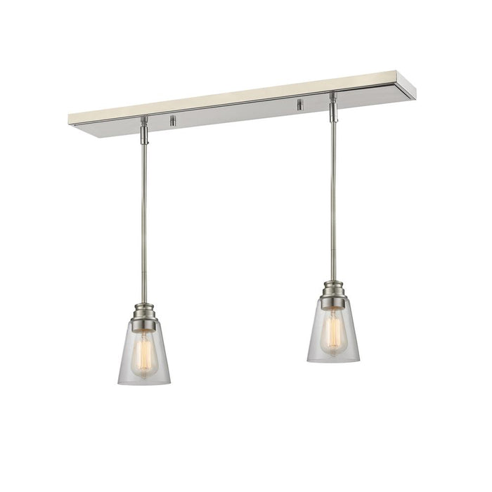 Z-Lite 428MP-2BN Annora 2 Light Island/Billiard Light in Brushed Nickel