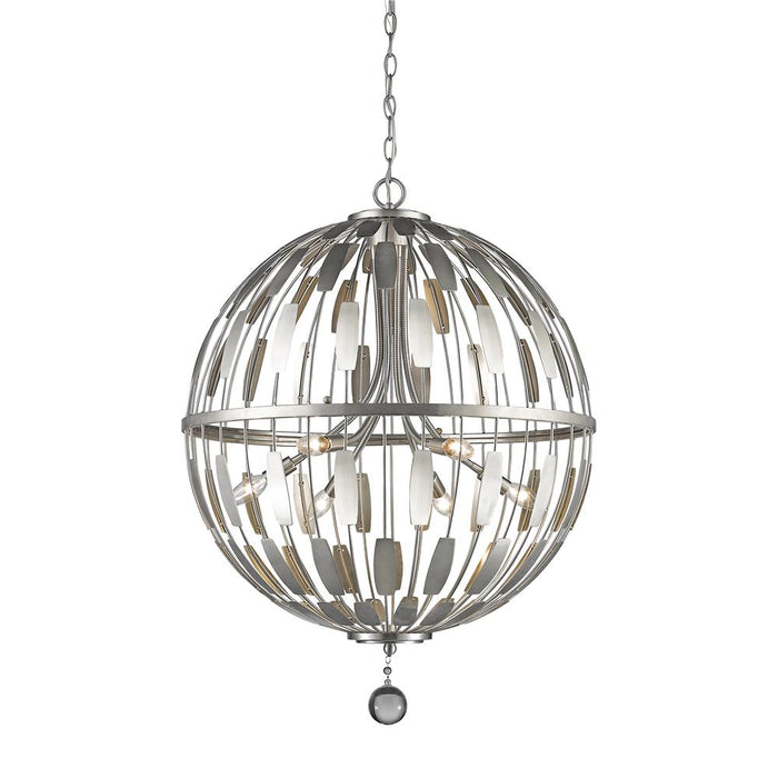 Z-Lite 430B24-BN Almet 6 Light Pendant in Brushed Nickel