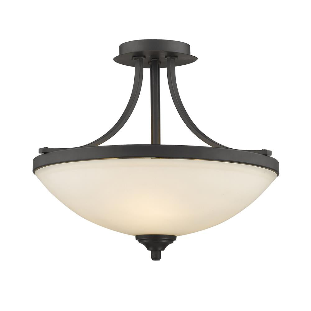 Z-Lite 435SF-BRZ Bordeaux 3 Light Semi Flush Mount in Bronze