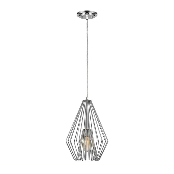 Z-Lite 442MP12-CH Quintus 1 Light Mini Pendant in Chrome