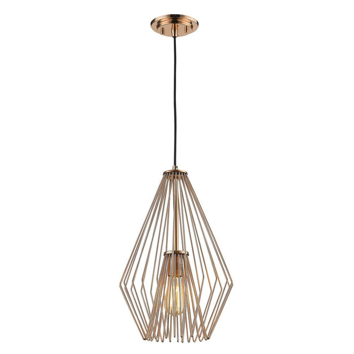Z-Lite 442MP12-CR Quintus 1 Light Mini Pendant in Copper