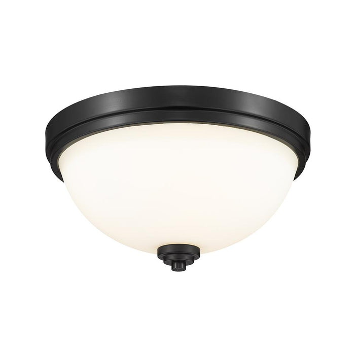Z-Lite 443F2-MB  Matte Black 2 Light Flush Mount