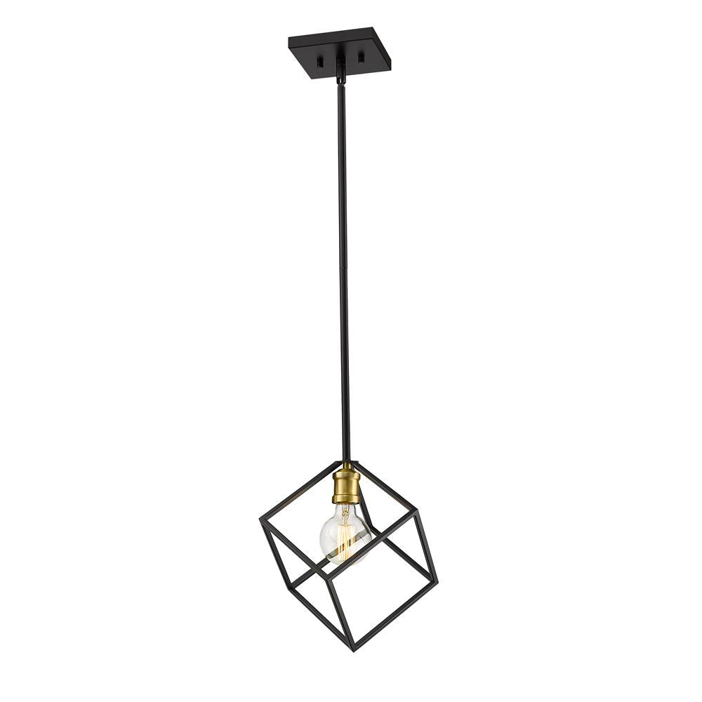 Z-Lite 478P11-BRZ-OBR Vertical 1 Light Pendant in Bronze + Olde Brass