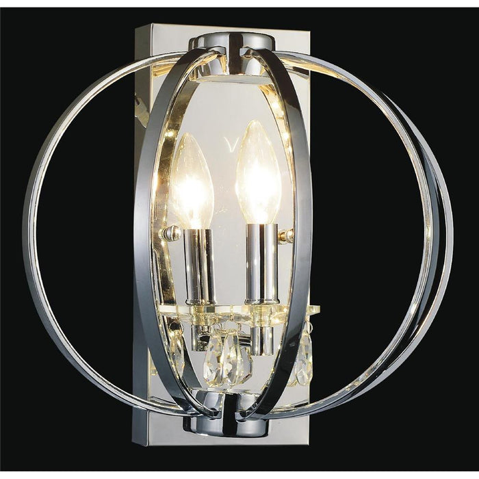 CWI Lighting 5025W10C-1 Abia 1 Light Wall Sconce with Chrome finish