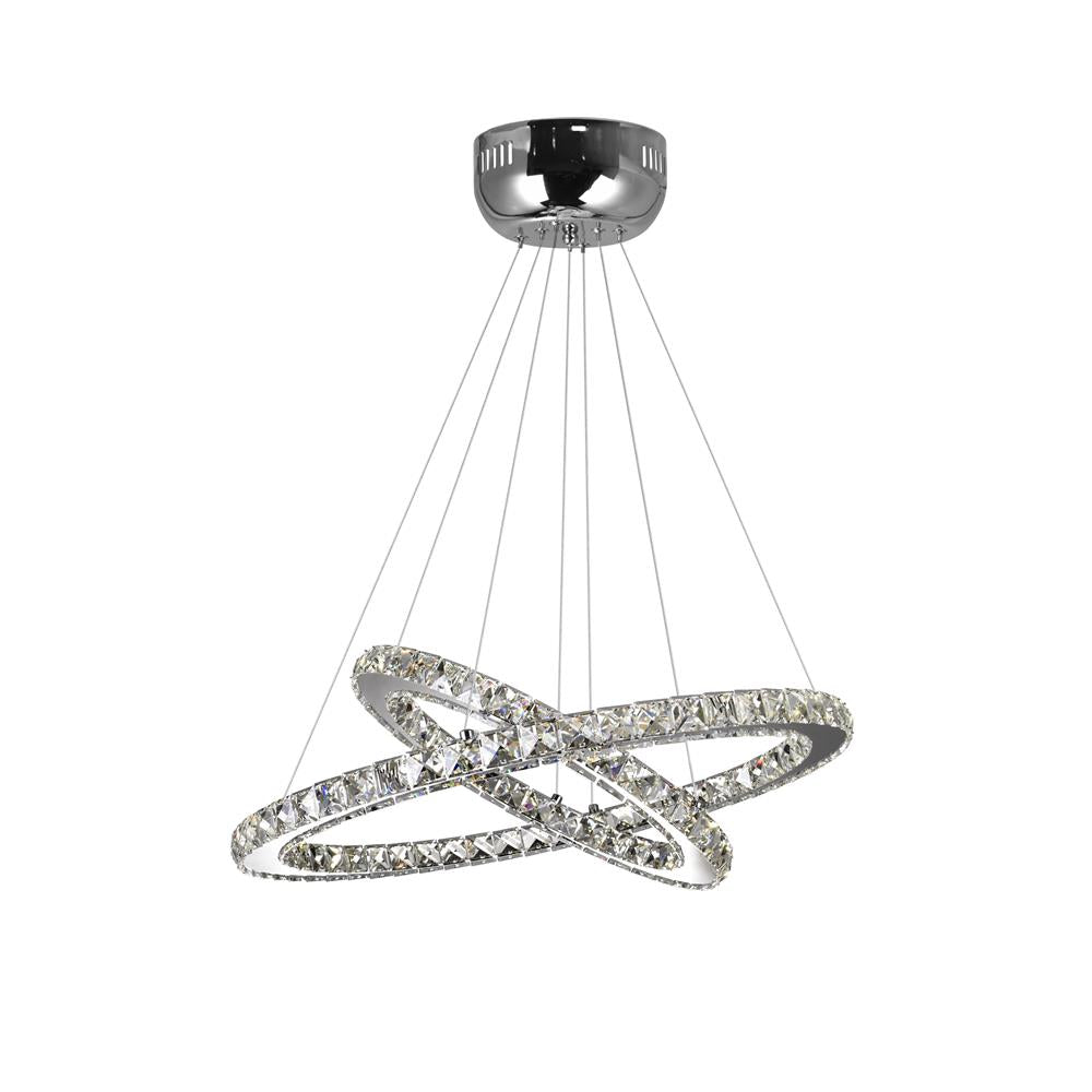 CWI Lighting 5080P24ST-2R Ring LED Chandelier with Chrome finish