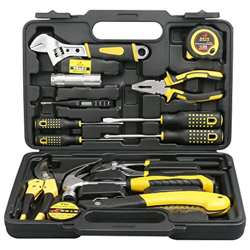 DOWELL 14 Pieces Homeowner Tool Set , Home Repair Hand Tool Kit with Plastic Tool box Storage Case