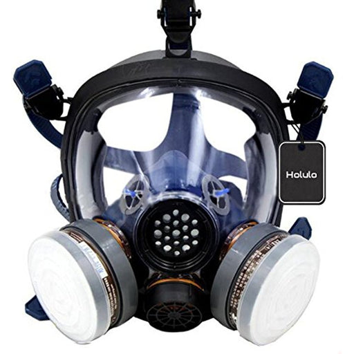 Organic Vapor Full Face Respirator Respiratory Protection Gas Masks Paint Pesticide Chemical Formaldehyde Anti Virus Full w/ Activated Carbon Respirator