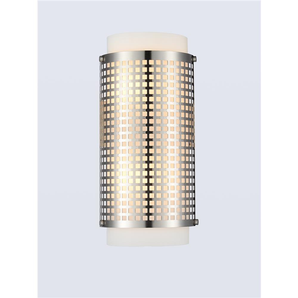 CWI Lighting 5209W6SN Checkered 2 Light Wall Sconce with Satin Nickel finish