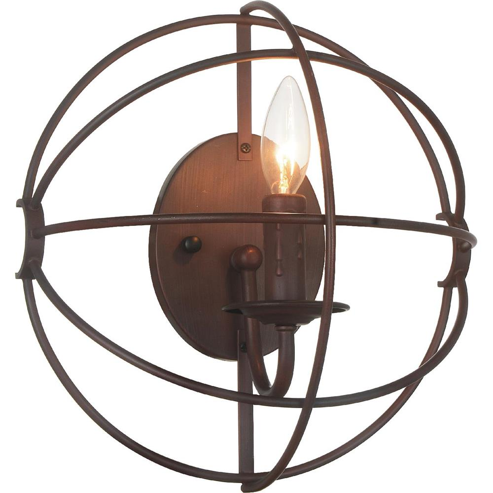 CWI Lighting 5464W12DB-1 Arza 1 Light Wall Sconce with Brown finish