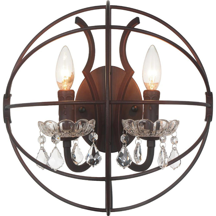 CWI Lighting 5465W14DB-2 Campechia 2 Light Wall Sconce with Brown finish