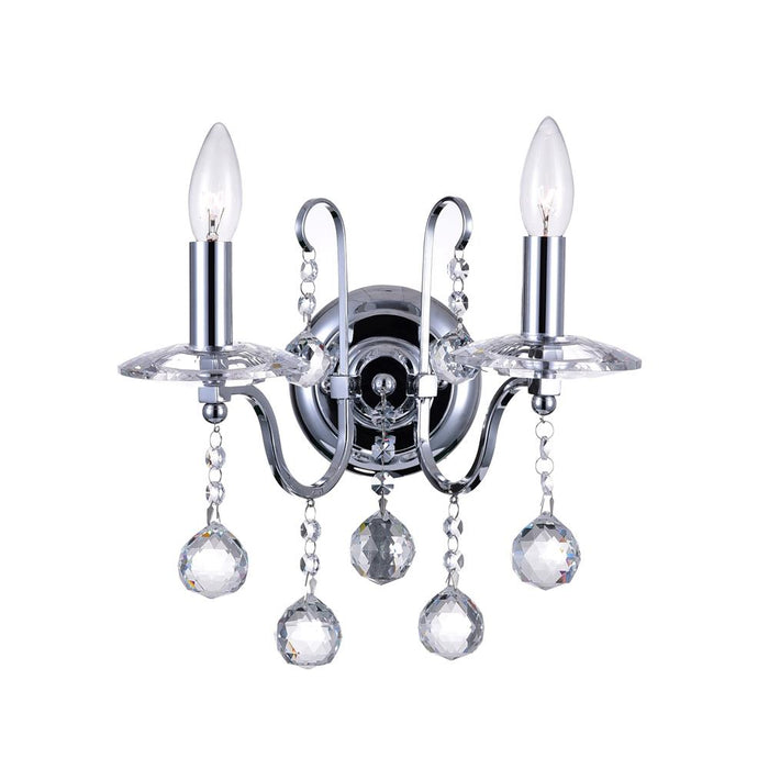CWI Lighting 5507W12C-2 Valentina 2 Light Wall Sconce with Chrome finish