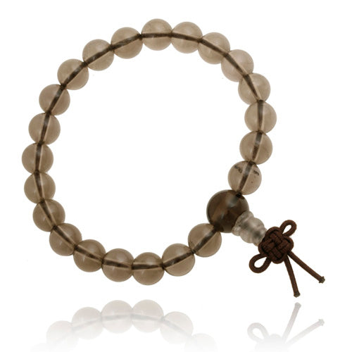 Smokey Quartz 8mm Power Bead Stretch Bracelet