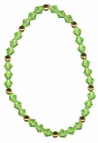 Green Swarovski Elements & 18k Gold Over Sterling Silver Stretch Bracelet