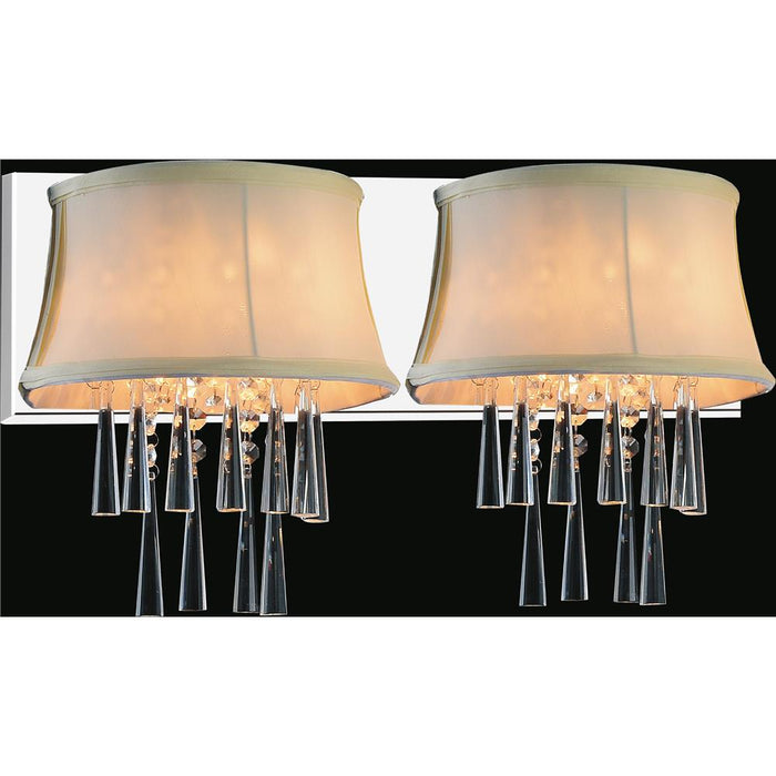 CWI Lighting 5532W21C-2 (Beige) Audrey 2 Light Vanity Light with Chrome finish