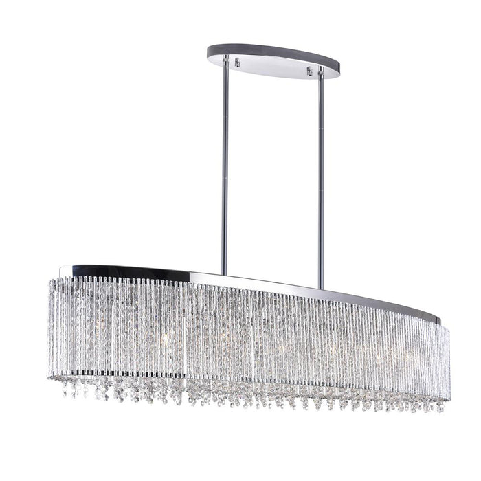 CWI Lighting 5535P46C-O Claire 7 Light Drum Shade Chandelier with Chrome finish